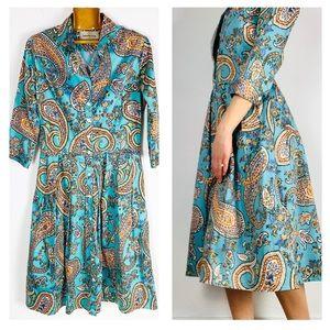 Samantha Sung Audrey Button Down Pleat Midi Dress